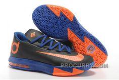save off cd6e2 2c1ab Nike Kevin Durant KD 6 VI Black-Orange Royal Blue For Sale New Arrival
