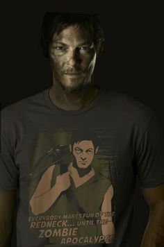Daryl Dixon, The Walking Dead- on a unrelated note...I need that t-shirt!