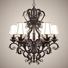 Classic Chandelier Lights Obj - 3D Model
