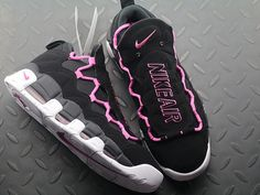 the latest 872d2 f53f9 Nike Air More Money QS Black Fuschia White Pink AJ7383-001 Check out from  https
