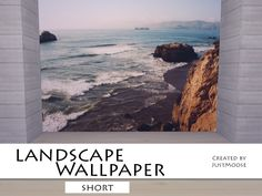 Wallpaper with beautiful landscape.  Found in TSR Category 'Sims 4 Walls & Floors Sets'