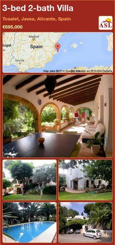 3-bed 2-bath Villa in Tosalet, Javea, Alicante, Spain ►€695,000 #PropertyForSaleInSpain