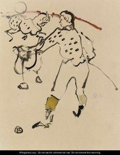 Au Cirque le Clown - Henri De Toulouse-Lautrec