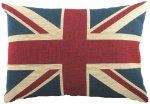 The union jack pillow from Sherlock's flat.