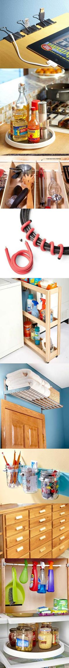 Make organization easy and simplify your life with this collection of tips, hints, ideas and products that quickly solve clutter problems in kitchens, offices, laundry rooms, shops and more. Find the other 8 easy organization tips at http://www.familyhandyman.com/DIY-Projects/Home-Organization/Instant-Organization/easy-organization/View-All