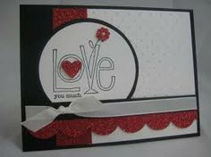 stampin up Love you much, valentines, scallop border