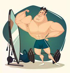 Fitness Guy Character #fitness #guy #character