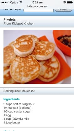 Kidspot pikelet recipe