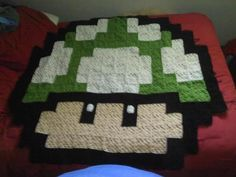 Crochet blanket I made last year. Took me forfuckingever. I want to make a Star Wars themed one this time but I cant find a pattern I like.