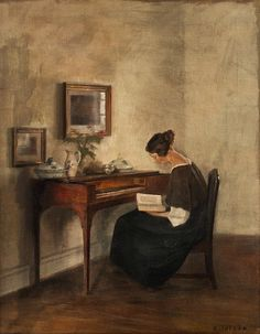 Carl Holsoe By the Clavichord Late 19th - early 20th century