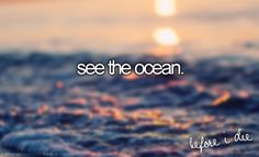 I did this when I was 5 but I want to do it again. I saw in the ocean because I was just that dumb when I was little
