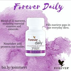 Did you know that a balanced diet can leave gaps in your nutrient and vitamin intake? Forever Daily provides an easy way to fill those gaps! Our blend features 55 vitamins and minerals to fill nutritional gaps and help you #lookbetterfeelbetter 💃✨!  bit.ly/joinmevt #aloevera #nutrition #ForeverDaily #vitamins #minerals #multivitamin #joinmevt Forever Business, Forever Living Products, Balanced Diet, Vitamins And Minerals, Aloe Vera, Did You Know, Health And Wellness, Fill, How To Become