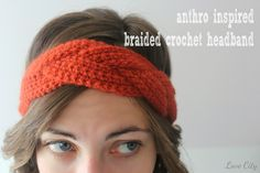 Love City: crochet love {anthro inspired braided headband} Would be really cute made with chunky yarn!