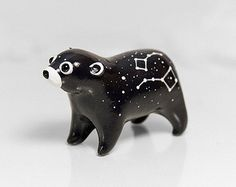 Bear Figurine OOAK Handmade Polymer Clay Animal Totem