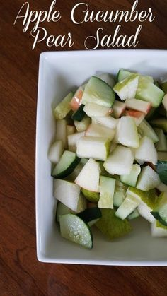 This Apple Cucumber Pear Salad is light, refreshing, easy to make, and is very good for you! Even Cleanse Day approved! Grab this delicious salad recipe from Having Fun Saving.