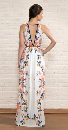 Floreado!! Pretty Dresses, Sexy Dresses, Beautiful Dresses, Fashion Dresses, Casual Dresses, Floral Fashion, Boho Fashion, Sexy Outfits, Dress Outfits