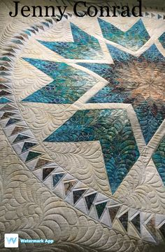 This is s stunning quilt! So happy I was able to quilt this.