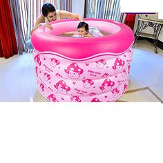 Holding baby swimming poolInflatable padded Queen baby swimming barrelsYoung children round the bath barrelB >>> You can find more details by visiting the image link.Note:It is affiliate link to Amazon.
