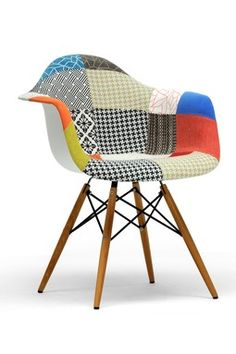 Lia Patchwork Mid-Century Style Dining Chair - Set of 2