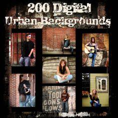Digital Urban Backgrounds Photography Backdrops Chroma Key Green Screen (F)