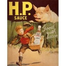 HP Sauce Good With Bacon Vintage advertisement Plaque