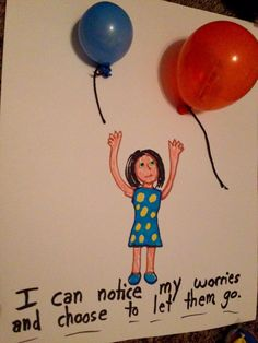 One of my favorite child meditations is to invite a child to imagine they are breathing their worries, troubles, or triggers into balloons. Then I have the child imagine they are simply noticing th…