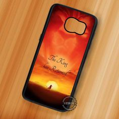 The King has Returned Lion King - Samsung Galaxy S7 S6 S5 Note 7 Cases & Covers