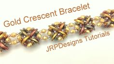 Gold Crescents Bracelet--Intermediate left hand tutorial - YouTube