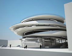 Zaha Hadid unveils renderings for Miami Car Park Look it's The Jetsons! ;)