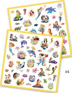#Djeco mermaid sticker pack for decorating, art and card making fun, ideal girls #party bag gift idea