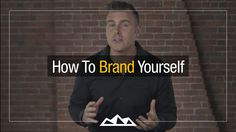 How to Brand Yourself/Business, Define Your Values and Standout in Your Market Your Values, Branding Your Business, Read Later, Creating A Brand, You Youtube, Brand You, Personal Development, Digital Marketing, Dan