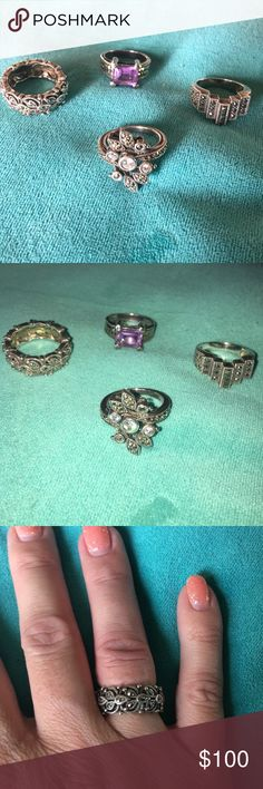 Judith Jack ring bundle Judith Jack ring bundle. Gorgeous 925 silver and marcasite. All authentic and stamped inside. Bought from Nordstrom. I believe they are all size 6 but may be slightly smaller, no smaller than a 5. Jewelry Rings