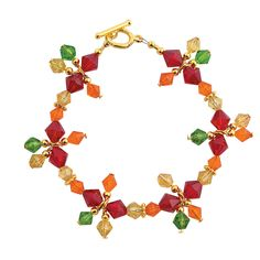 Autumn Crystal Beaded Bracelet Kit - OrientalTrading.com