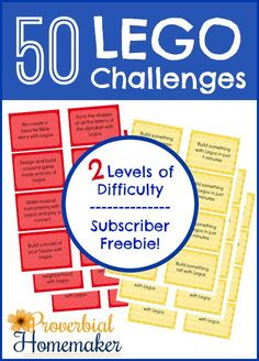 Do you have some Lego loving kids? You are going to love these 50 printable Lego Challenges! Lego Challenge, Challenge Cards, Lego Math, Lego Lego, Free Lego, Lego Activities, Lego Club, Lego Toys, Occupational Therapy