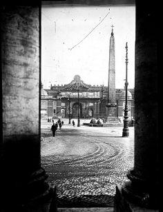 Piazza del Popolo 1920 Rome, Italy