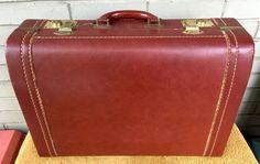 """VTG Envoy 19"""" Suitcase Train Case Carry-On Brown Keys Included #Envoy"""