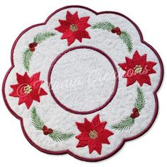 ITH Snowman Candle Mat 5x5 6x6 7x7 8x8 - Titania Creations Christmas Patchwork, Poinsettia, Machine Embroidery Designs, Snowman, Kids Rugs, Candles, Stitch, Holiday Decor, Full Stop