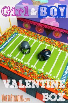 Worth It Events: Girl and Boy Valentine's Day Box with Apple Barrel Craft Paints