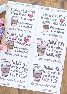Cheap and easy teacher gift baby gif tell your teacher thank you with this easy teacher appreciation gift and free printable gift tag featuring fun coffee sayings great idea for teacher solutioingenieria Choice Image