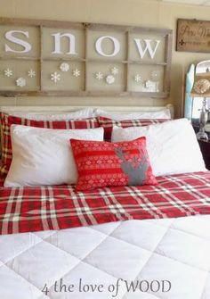 4 the love of wood: FOUR LETTER WORDS & THE SECRET TO AN AMAZING CHRISTMAS BED