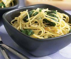 Spaghetti with Garlic & Spinach recipe