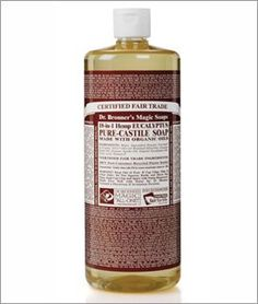 Dr. Bronner's Magic Soaps Pure-Castile Soap, 18-in-1 Hemp Eucalyptus, 32-Ounce by Dr. Bronner's Magic Soaps. $15.29. Great For Camping; Backpacking; Traveling. Cleans Body; Floors; Bathrooms; Counters; Walls; Dishes; Pets; Fruits & Vegetables; Great For Shaving. Eucalyptus Oil Is A Powerful Way To Dissolve Sluggishness And Sloth Of Spirit; Favorite Choice For Pet Washing. All Natural Organic Certified Ingredients; Bio-Degradable;Packaged In 100% Post Consumer Rec...