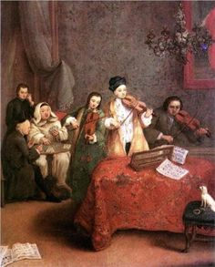 Pietro Longhi (French: 1701 - 1785) - The Concert (1741)