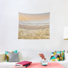 """""""Minimalist Ocean Sunset"""" Tapestry by ind3finite 