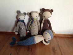 KIRA, RADA, BINA, MICI made by Christiane W. / crochet patterns by lalylala