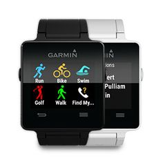 garmin vivoactive - The Garmin Vivoactive is the latest contender to enter the ring when it comes to smartwatch technology. The Vivoactive is the latest model in Garmi. Fleet Feet Sports, Running Watch, Gps Tracking, Fitness Watch, Wearable Technology, Cool Tech, Fitness Tracker, Fitness Gear, Workout Gear