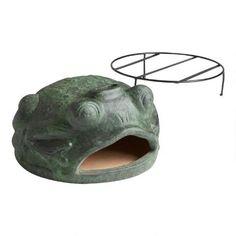 Green Frog Terracotta Pizza Oven | World Market Wood Fired Oven, Wood Fired Pizza, Terracotta Pizza Oven, Pizza Bake, Green Frog, World Market, Decorative Bowls, Artisan, Sculpture