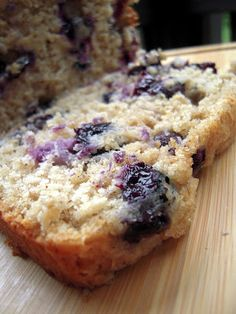 Blueberry Bread - great way to use up all those fresh blueberries!