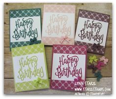 June is coming soon and you can get your hands on these new In Colors and the Happy Birthday Thinlits die! I used adhesive sheets on the back of the card stock before running it through the Big Sh Birthday Cards For Women, Handmade Birthday Cards, Bday Cards, Birthday Greeting Cards, Happy Birthday Ecard, Birthday Cheers, Birthday Quotes, Happy Birthday Gorgeous, Stamping Up Cards