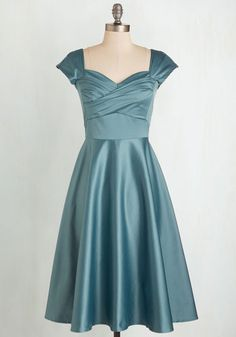 Pine All Mine Dress in Dusty Blue From The Plus Size Fashion At www.VinageAndCurvy.com